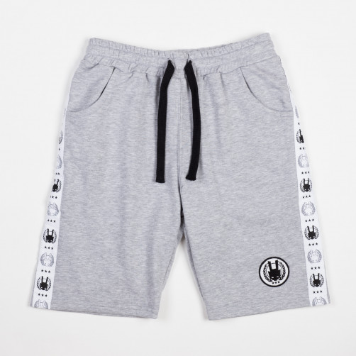 AK STRIPE shorts, grey/wht