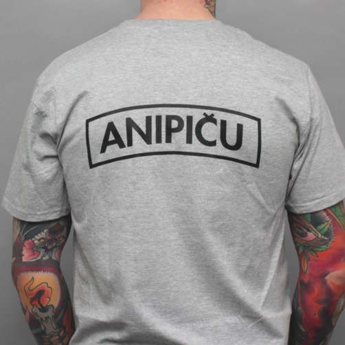 ANIPIČU BACK 2016 S tričko - grey/black