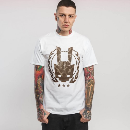 AK VINTAGE LOGO – white/brown