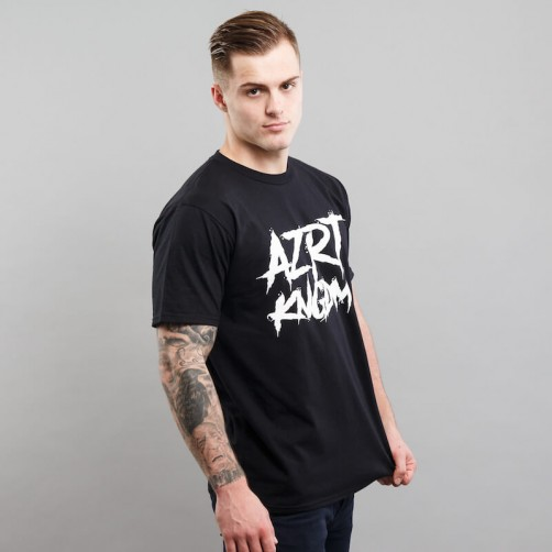 AZRT HORROR tee, black/white