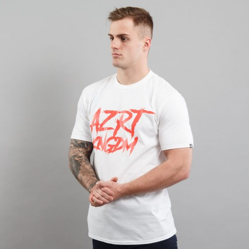 AZRT HORROR tee, white/red