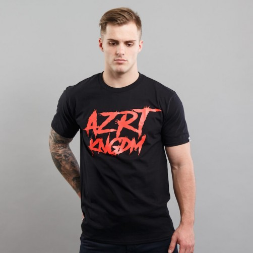 AZRT HORROR tee, black/red