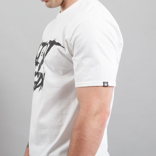 AZRT HORROR tee, white/black