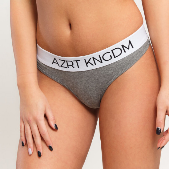AZRT KNGDM tanga – black & grey, 2 pack