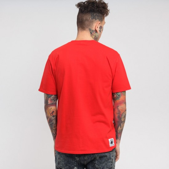 RIPPLE LOGO tee, red/white-red