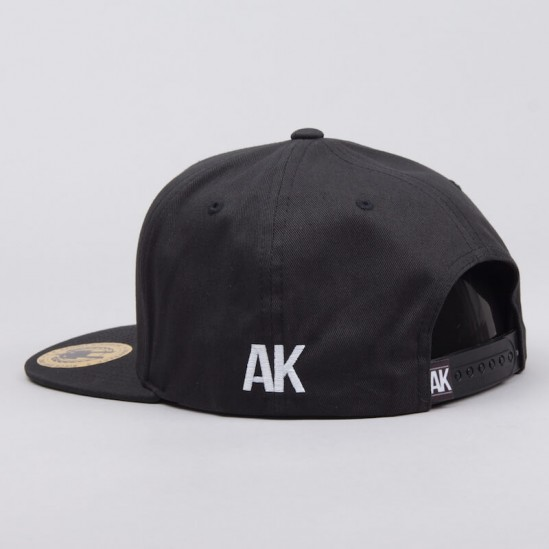 AK LOGO snapback - black/red