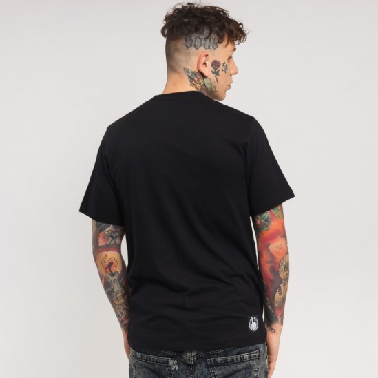 AK LUXURY LOGO tee, black/grey