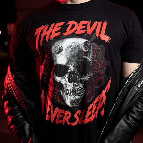 THE DEVIL tee, blck
