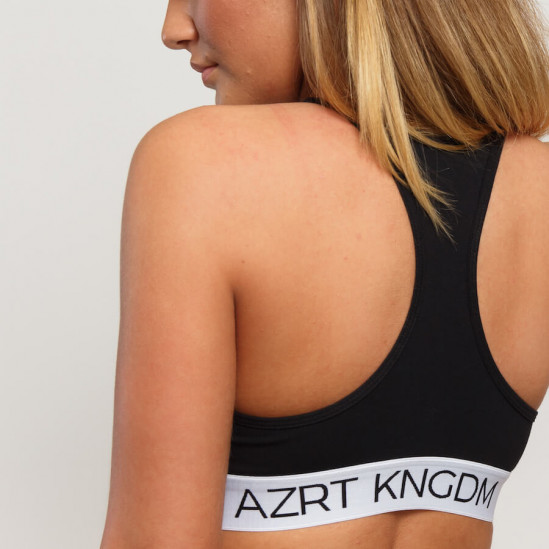 AZRT KNGDM top – black & grey, 2 pack