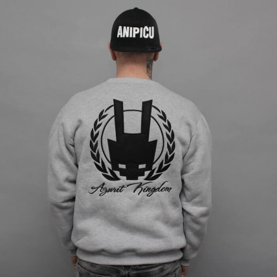 AK LOGO BACK, BE crewneck, grey