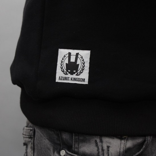 AK LOGO BACK, WE crewneck, black