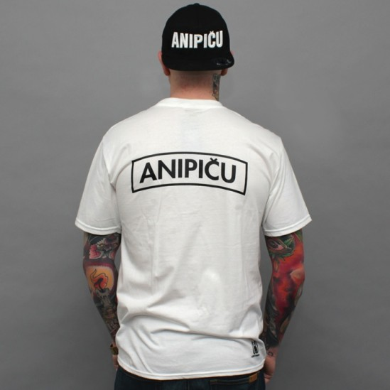 ANIPIČU BACK 2016 S tričko - white/black
